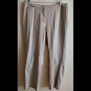 MaxMara Size 14 Khaki Stretch Dress Casual Pants